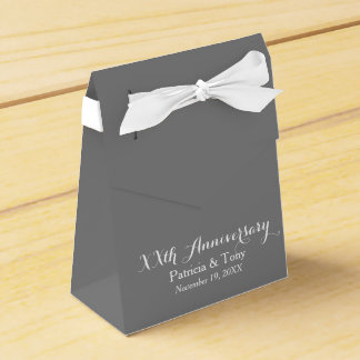 Wedding Anniversary Personalized - pick color Favor Box