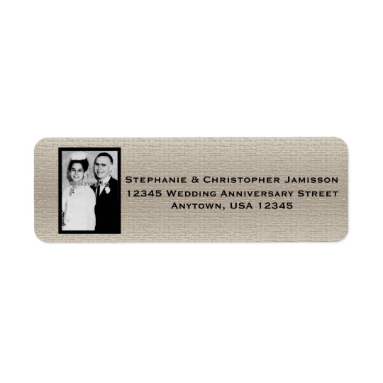 Wedding Anniversary Photo Name and Address Label