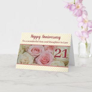 Wedding Anniversary roses fully customizable Card