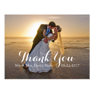Wedding Anniversary Thank You Photo Note Cards