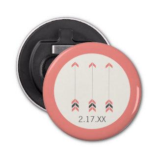 Wedding Arrows Button Bottle Opener