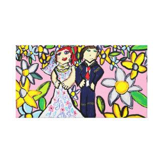 wedding art 2 canvas print