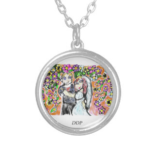 wedding art 4 silver plated necklace