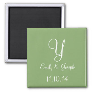 Wedding Asparagus Cute Monochromatic Square Magnet