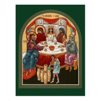 Wedding at Cana Prayer Card Postcard