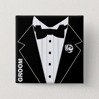 Wedding,bachelor party,stag party 2 inch square button