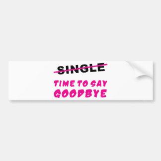 /wedding bachelor-separated bumper sticker