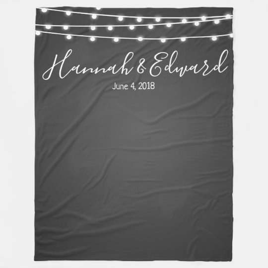 Wedding backdrop photo background chalkboard fleece blanket