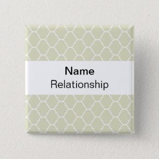 Wedding Badge (sans serif) 2 Inch Square Button