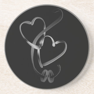 ***WEDDING BANDS AND HEART*** COASTER
