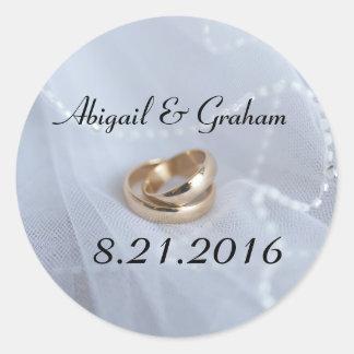 Wedding Bands Invitation Seal Round Sticker