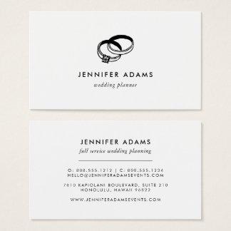 Wedding Bands | Modern Wedding Planner Business Card