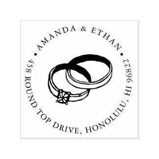 Wedding Bands | Return Address Self-inking Stamp