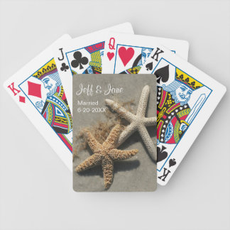 Wedding Beach Theme Playing Cards