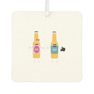 Wedding Beerbottle couple Zn4bx Air Freshener