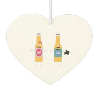 Wedding Beerbottle couple Zn4bx Car Air Freshener