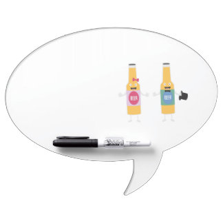 Wedding Beerbottle couple Zn4bx Dry Erase Board