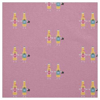 Wedding Beerbottle couple Zn4bx Fabric