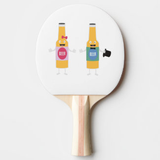 Wedding Beerbottle couple Zn4bx Ping Pong Paddle