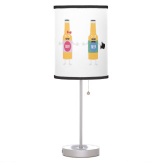 Wedding Beerbottle couple Zn4bx Table Lamp