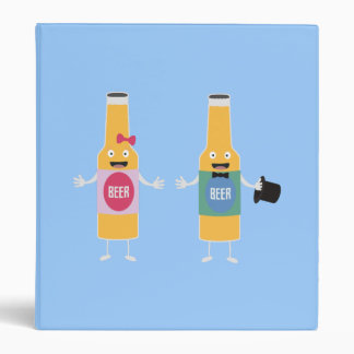 Wedding Beerbottle couple Zn4bx Vinyl Binders