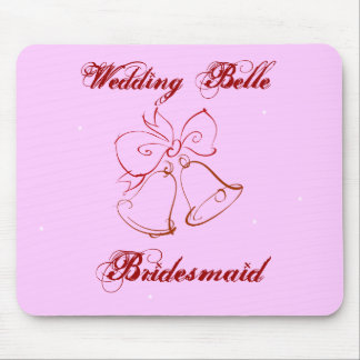 Wedding Belle Bridesmaid Mouse Pad