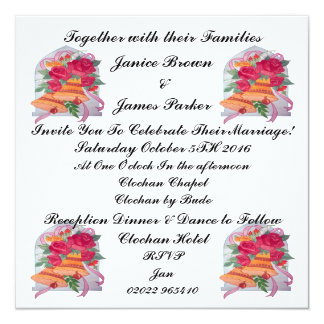 Wedding Bells Collection Invitation Card