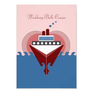Wedding Bells Cruise Ship Invitation