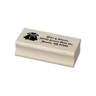 Wedding Bells Custom Address Rubber Stamp