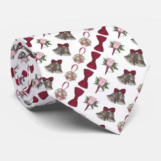 Wedding Bells Flowers Boutonniere Bow Groom Tie