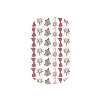 Wedding Bells Flowers Pink Rose Bride Nail Art