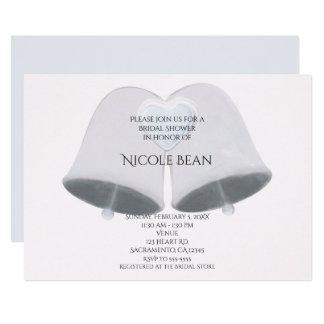 Wedding Bells & Heart Engagement Bridal Shower Card