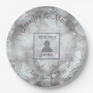 Wedding Bells Reception 9 Inch Paper Plate