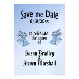 Wedding Bells Save the Date Magnetic Card