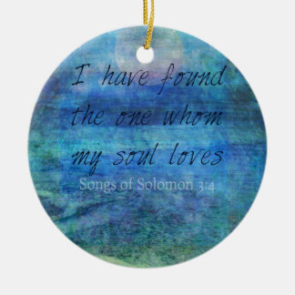 Wedding Bible Verse Art Scripture ocean sea Ceramic Ornament