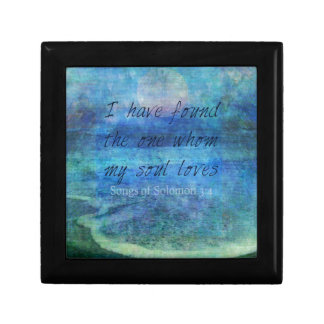 Wedding Bible Verse Art Scripture ocean sea Gift Box