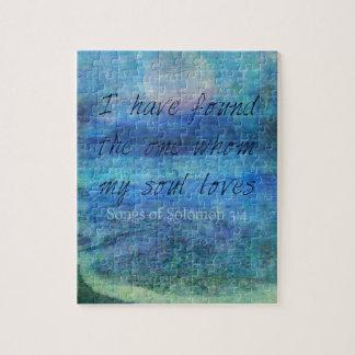 Wedding Bible Verse Art Scripture ocean sea Jigsaw Puzzle