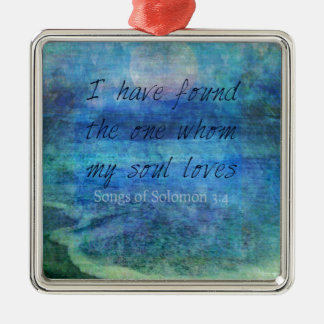 Wedding Bible Verse Art Scripture ocean sea Metal Ornament