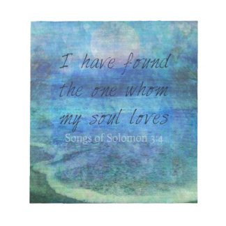 Wedding Bible Verse Art Scripture ocean sea Notepad