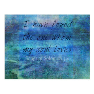 Wedding Bible Verse Art Scripture ocean sea Postcard