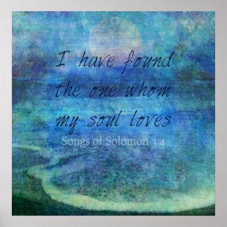 Wedding Bible Verse Art Scripture ocean sea Poster