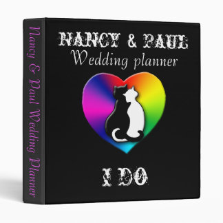 Wedding binder with cats...