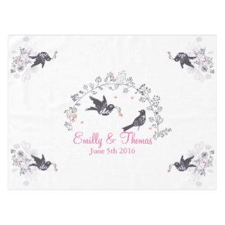 wedding birds on branch customizable tablecloth