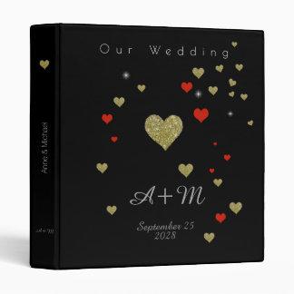 wedding black binders