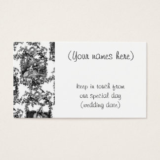Wedding black toile- address cards