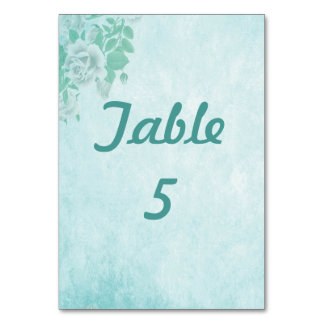 Wedding Blue Floral Card