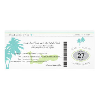 Wedding Boarding Pass to Cayman Islands Invite