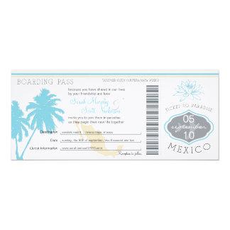 Wedding Boarding Pass to Mexico Card