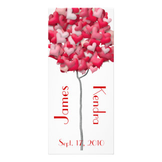 Wedding Bookmarks Favors Book Mark Heart Tree Rack Card