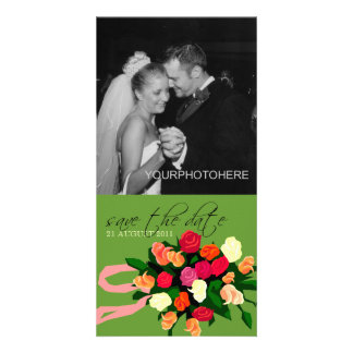 Wedding Bouquet Photo Save the Date Cards Picture Card